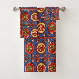 Armenisches Volkskunst-Tuch-Set 4 Badhandtuch Set