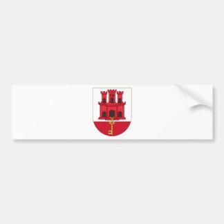 Arms_of_Gibraltar_ (Variante) Autoaufkleber