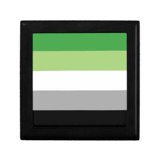 Aromantic Flagge Kleine Quadratische Schatulle