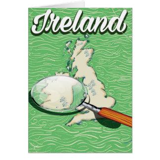 Art-Reiseplakat Irlands Vintages Grußkarte