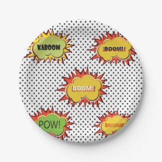 Art-Themaentwurf der Popkunsttypographie retro Pappteller