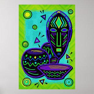 afrikanische masken poster designs. Black Bedroom Furniture Sets. Home Design Ideas