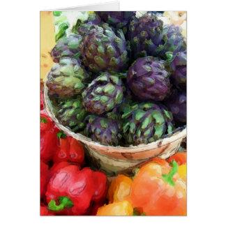 Artischocken-Pfeffer-Gemüse-veganer Vegetarier Karte