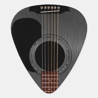 Aschen-schwarze Akustikgitarre Plektrum