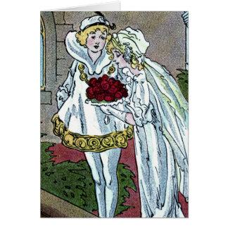 Aschenputtel heiratet den Prinzen Karte