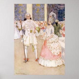 Aschenputtel und der Prinz durch Millicent Sowerby Poster