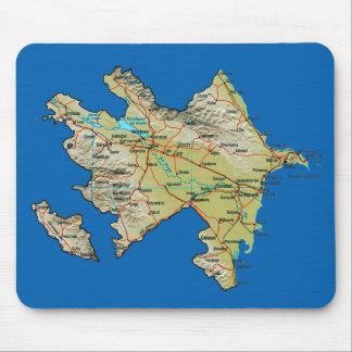 Aserbaidschan-Karte Mousepad
