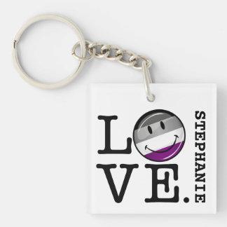 Asexuale Liebe-Stolz-Flagge Schlüsselanhänger