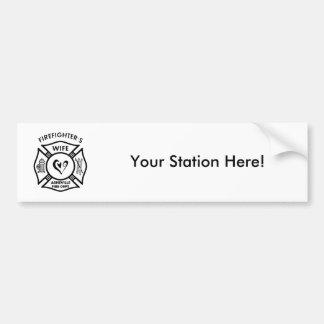 Asheville-Feuerwehrmann-Ehefrau-Gruppe Autoaufkleber