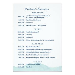 Nolans Hochzeits Zeitplan 1 Einladung