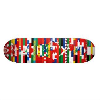 Asiat kennzeichnet Skateboard Personalisiertes Deck