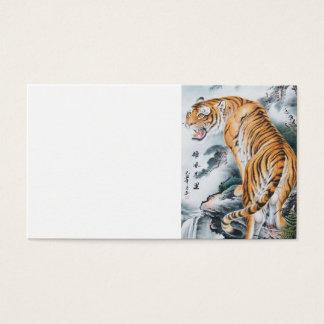 Asiatische Aquarell-Tiger-Kunst Visitenkarten