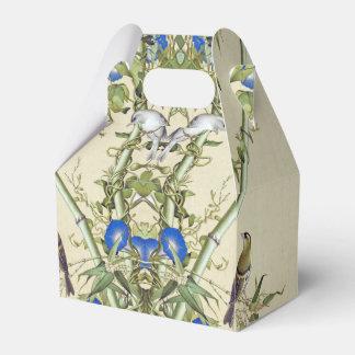 Asiatische Bambusvogel-blauer Geschenkschachtel