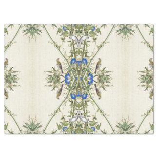 Asiatische Bambusvogel-blaues Blumen-Seidenpapier Seidenpapier