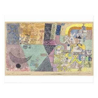 Asiatische Entertainer durch Paul Klee Postkarte