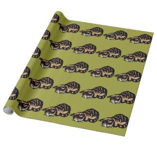 Asiatische Katze Geschenkpapier