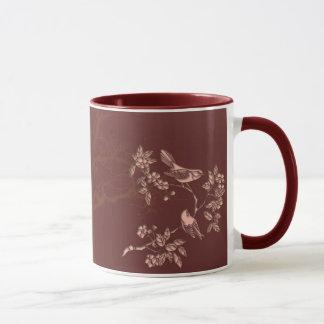 asiatische Schönheitsvogellied Keramik-Tasse Tasse