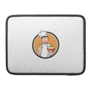 Asiatischer Kochs-Nudel-Schüssel-Kreis-Cartoon Sleeves Für MacBooks