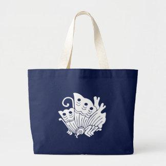 Asiatischer Schmetterlings-Japaner Kamon Entwurf Jumbo Stoffbeutel