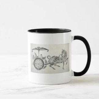 Asiatischer Wagen u. Pferd Tasse