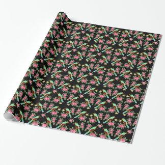 Asiatisches grünes Elster-Vogel-Packpapier Geschenkpapier