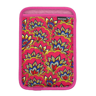 Asiatisches rotes vibrierendes Blumenmuster iPad Mini Sleeve