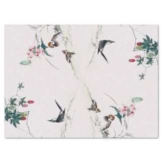 Asiatisches Vogel-Tier-Blumen-Beeren-Seidenpapier Seidenpapier