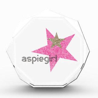 Aspiegirl Frau mit Aspergers Auszeichnung