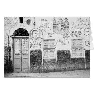 Assuan Ägypten, verziertes Haus Grußkarte