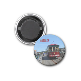 Astoria Flussufer-Laufkatze Runder Magnet 2,5 Cm