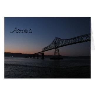 Astoria-Megler Brücke, Oregon Karte