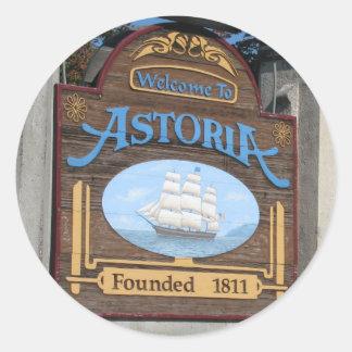 Astoria, Oregon Runder Aufkleber