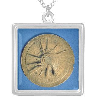 Astrolabe für Rechenhoroskope, europäisch Versilberte Kette