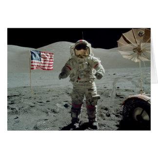 Astronaut Apollo 17 im Stier Littrow Tal Karte