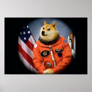 Astronautenhund - Doge - shibe - Doge memes Poster