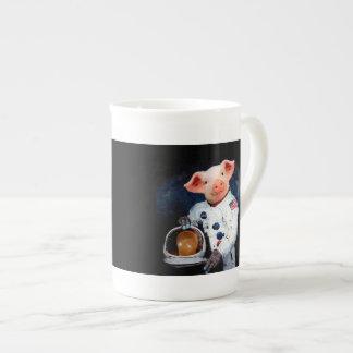 Astronautenschwein - Raumastronaut Prozellantasse