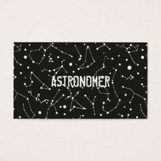 Astronom und Konstellationen Visitenkarte