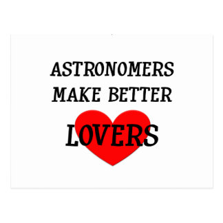 Astronomen machen bessere Liebhaber Postkarte