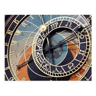 astronomische Uhrpostkarte Prags Postkarte