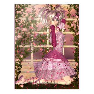 Atem der Rosen-Fantasie-Kunst Postkarte