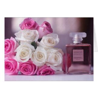 Atemberaubende Blumen und Parfüm Karte