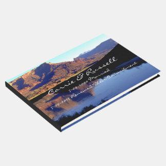 Atemberaubende landschaftliche gästebuch