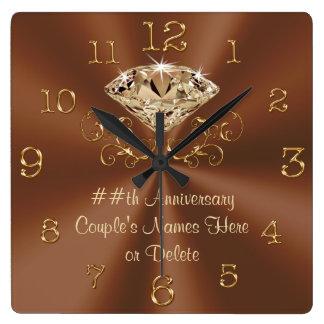 Atemberaubende personalisierte Jahrestags-Uhren Uhr