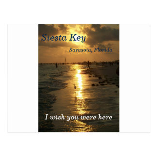 Atemberaubende Sonnenuntergangkarte Postkarte