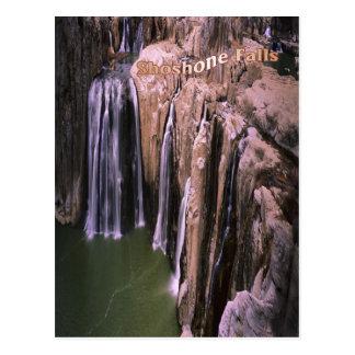 Atemberaubender Shoshone fällt in Idaho, Postkarte