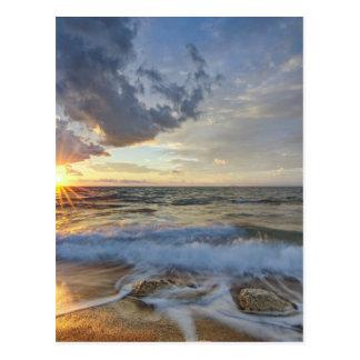 Atemberaubender Sonnenuntergang Postkarte