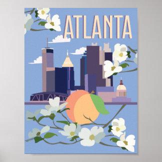 Atlanta-Reise-Plakat Poster