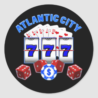 ATLANTIC CITY RUNDER AUFKLEBER