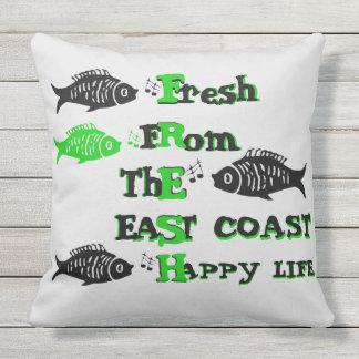 Atlantik-Küstenfrisches Ostküste glückliches Kissen Für Draußen