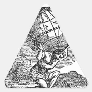 Atlas gezuckt/Schulden-Zitat Dreieckiger Aufkleber